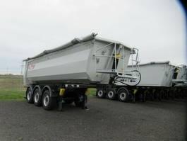 tipper semi trailer Fliegl 27 cbm Stahlhinterkipper, Lift, SAF Scheibe