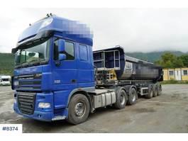 cab over engine DAF XF 105.510 truck w/ Lagendorf tipper trailer 2013