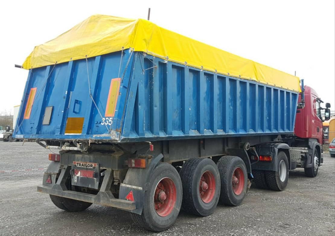 Kipper Auflieger Trailor S323LB Stahl/Alu Blatt 32 m³ 335