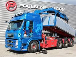 crane truck Volvo FM500 8x4*4 tipper crane 2012