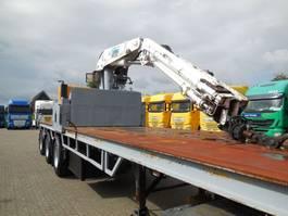 flatbed semi trailer Pacton OP-1230-2-6B KRAAN KENNIS R32 NEU MOTOR
