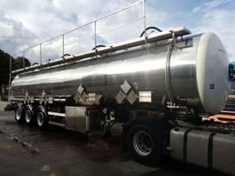tank semi trailer semi trailer Magyar ADR 3 assen 4 compartimenten =32550L met certificaat de jaugeage 1996