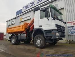 tipper truck > 7.5 t Mercedes-Benz 1832 Actros 4x4 Meiller Kran PK 10501 Hydraulik 2008