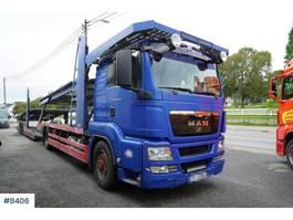 car transporter truck MAN TGS 18,480 car transporter with trailer 2009