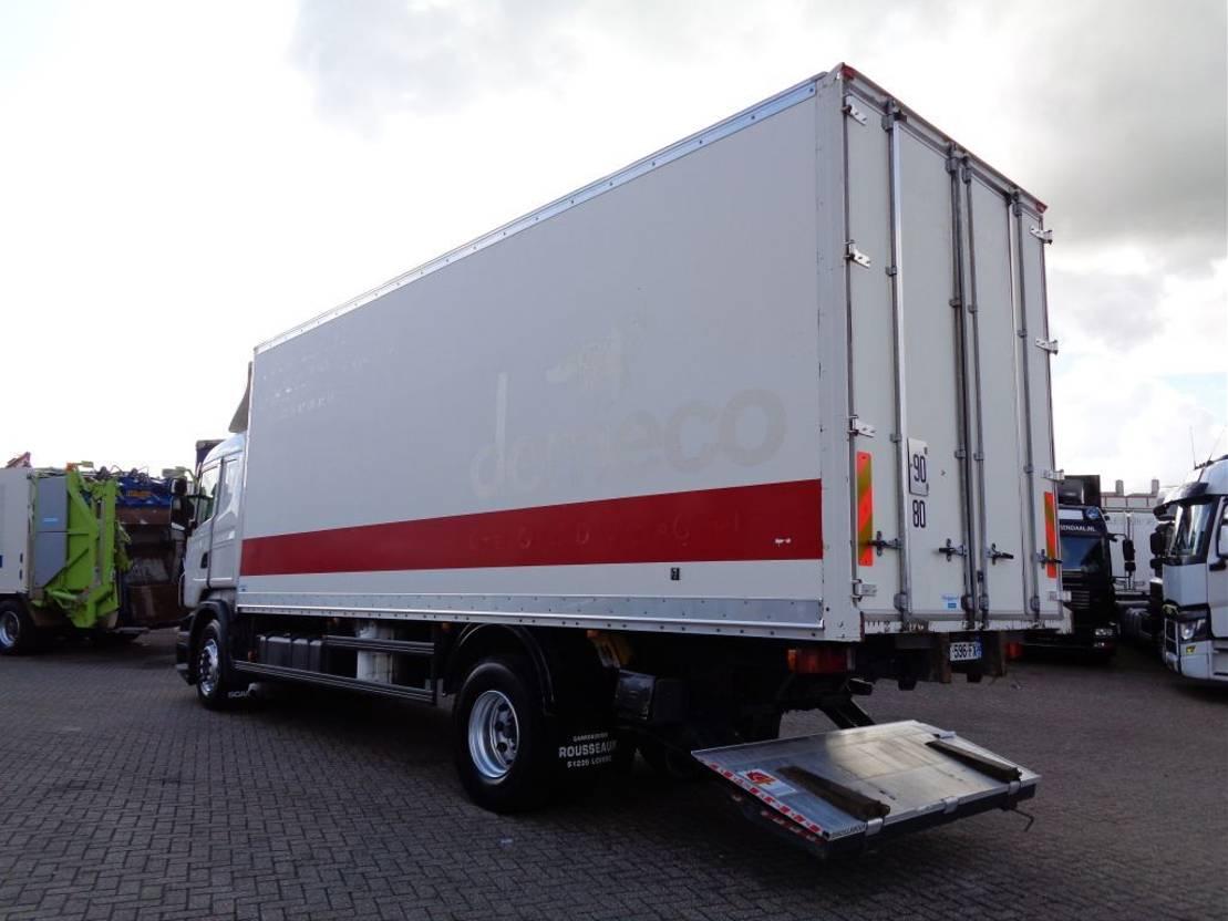 closed box truck > 7.5 t Scania R 360 + ADR + 3 pedals + Dhollandia Lift + 2 in stock 2010