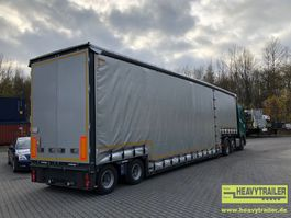 lowloader semi trailer Meusburger 2-Achs-Jumbo-Tiefbett mit Planenaufbau 2018