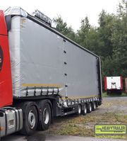 lowloader semi trailer Meusburger 4-Achs-Jumbo-Sattelauflieger mit Planenaufbau 2018