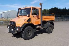 tipper truck > 7.5 t Unimog U 140 - 4x4 - 79.455 Km - PTO VOOR + ACHTER - 3 - Z - KIPPER