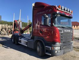 timber truck Scania R580, 6X4, Euro 6, Retarder, + Epsilon M110, 2015, 2014