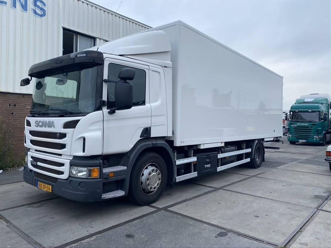 closed box truck > 7.5 t Scania P 230 B 4X2 - EURO 5 - 2X AFZETBAK HOLLAND TRUCK 2012