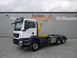 container truck MAN TGS 26.460 6x4 BL, Euro 6, AP Achsen, Palfinger Power 20a 2017