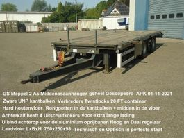 drop side full trailer GS AN-2000 2 As Open Wipkar Zware UNP kantbalken Twistlocks  20 FT veel extra's 2004