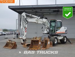 wheeled excavator Volvo EW160C 4 buckets - Outrigers 2010