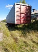 tilt semi trailer Trailor BACHER 3-ESSIEUX - FRUEHAUF TAMBOURS - SUSPENSION LAMES 1985