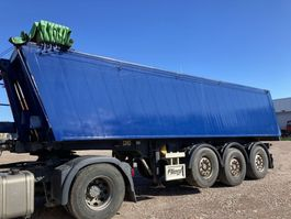 tipper semi trailer Fliegl 3 as Stalen chassis-Alu kIpper  27 m3 2010