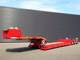 lowloader semi trailer Doll T3E-0S3F / REMOVABLE NECK / PANTHER AXLE / POWER STEERING 2013