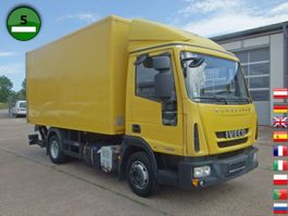 closed box truck > 7.5 t Iveco EuroCargo ML 75 E 16 P LBW Koffermaßen 4,6m x 2, 2011