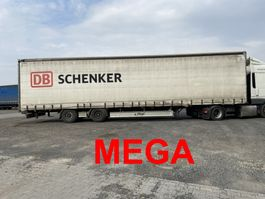 sliding curtain semi trailer Fliegl SZS300 TWIN  Mega 3 m Innenhöhe SZS300 Twin2 Achs Planenauflieger 2016