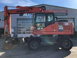 wheeled excavator Komatsu PW160-7E0 **BJ2006*16000H** Schild/Sw/ZSA 2008