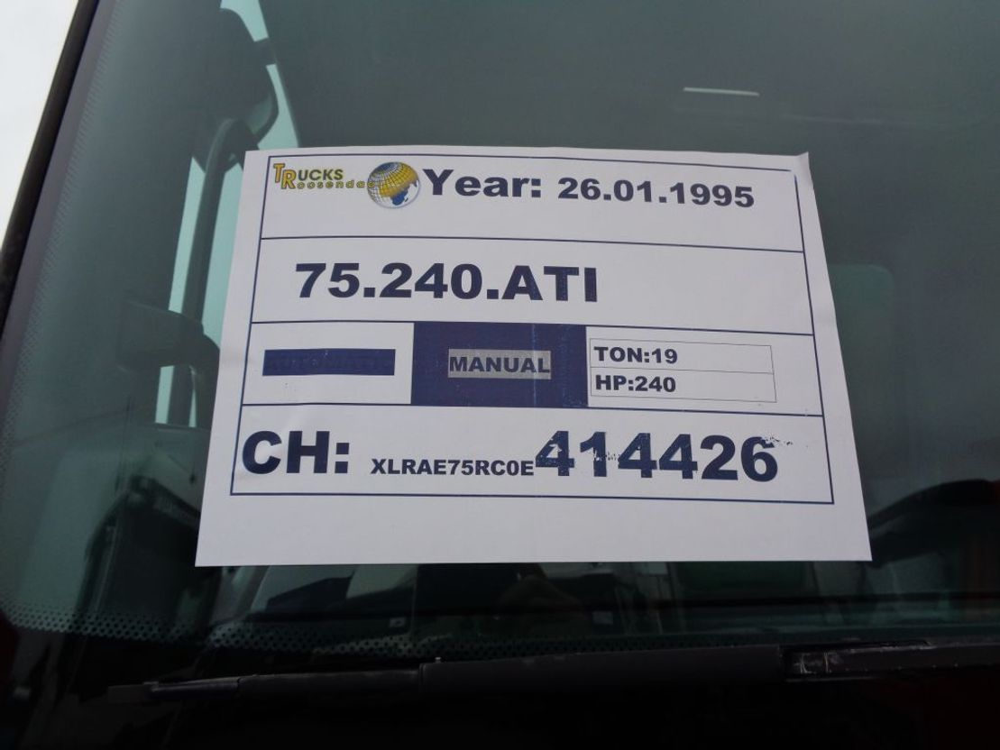 container truck DAF 75.240 ATI + Manual + NCH System + Euro 1 + Full blad 1995