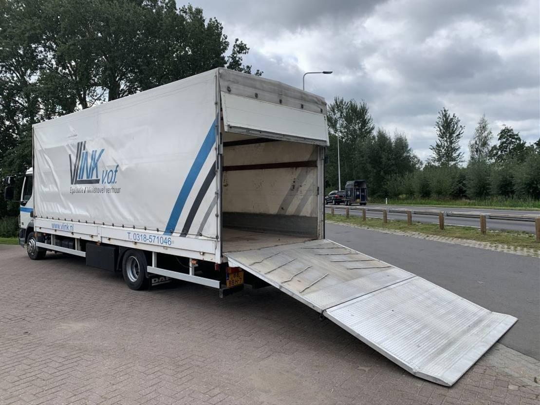 closed box truck > 7.5 t DAF FALF45250G12   OPRIJWAGEN 2009
