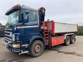 crane truck Scania R124-470 6x4 2002