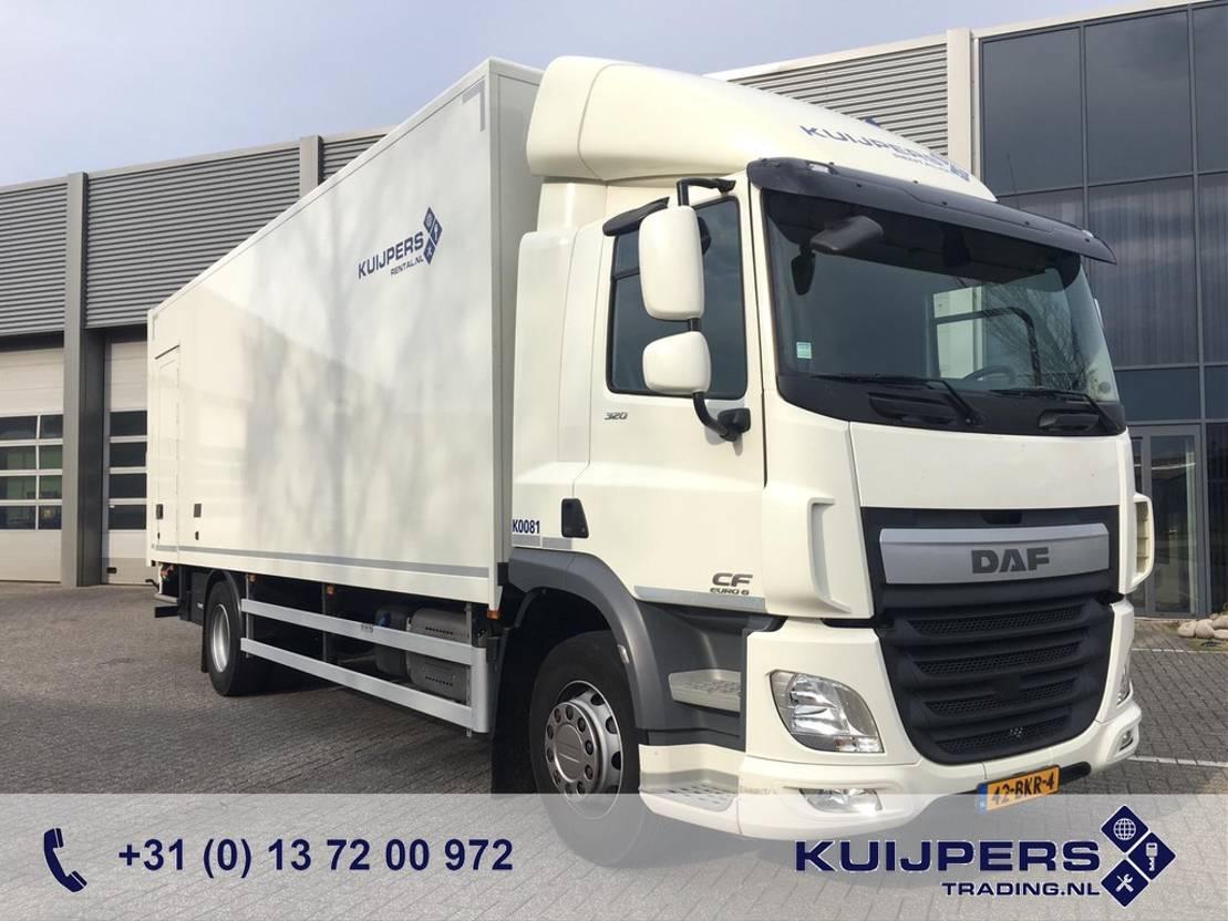 closed box truck > 7.5 t DAF CF 320 / Box / Laadlift / 7,5mtr 2017