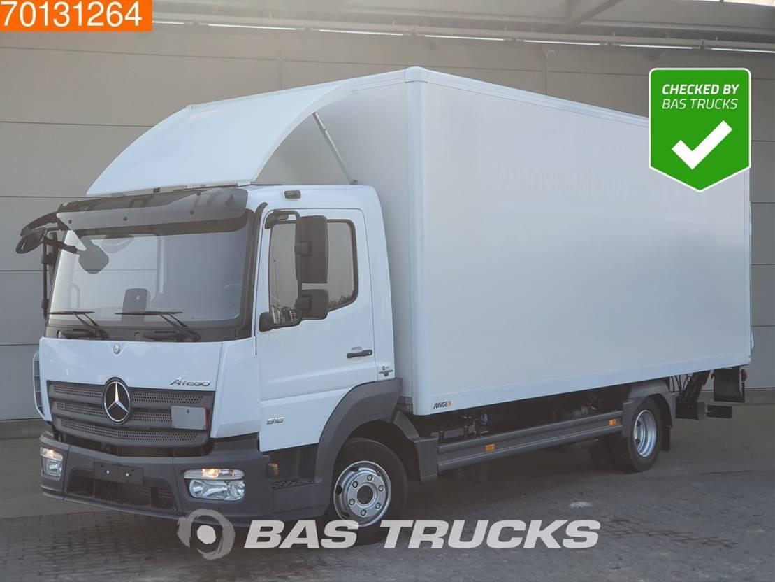 closed box truck > 7.5 t Mercedes Benz Atego 816 4X2 Manual Ladebordwand ClassicSpace Euro 6 2016