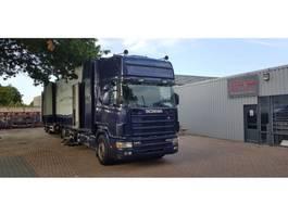 Koffer LKW > 7.5 tonnen Scania Scania 144-530 + aanhanger bloemen auto voor auto motor cross 1999