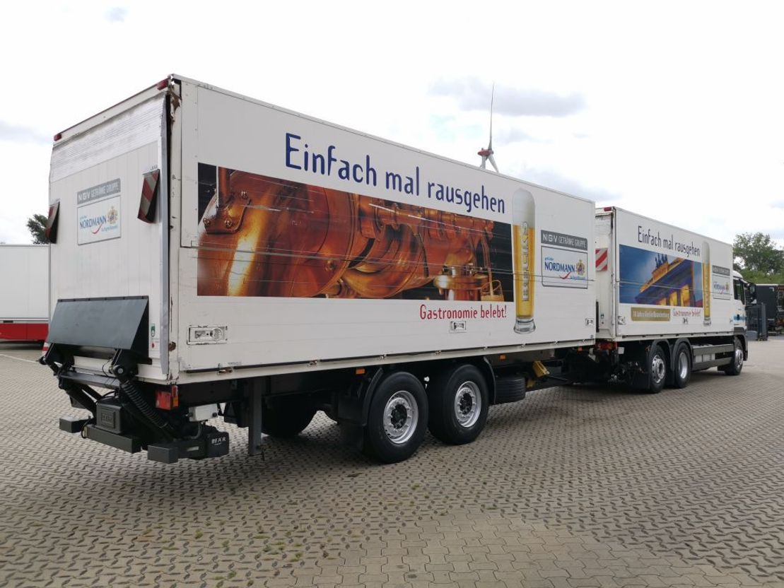 closed box truck > 7.5 t MAN TGS 26.400 6x2-2 LL / Ladebordwand /mit Anhänger 2008