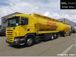 Silo-LKW Scania R 380 LB6x2*SILO /31m3 /6 Kammern /mit Anhänger