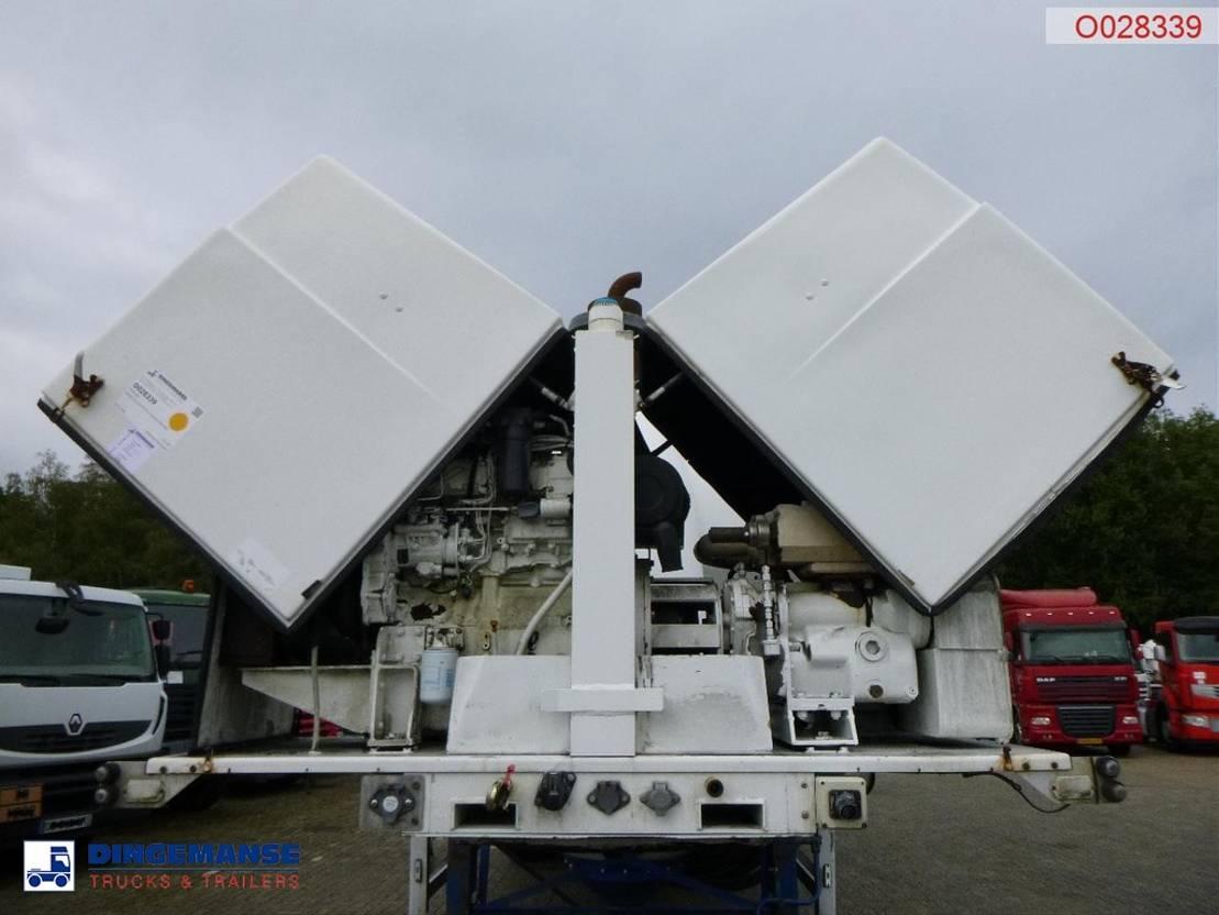 Tankauflieger Auflieger Feldbinder Powder tank alu 40 m3 + engine/compressor 2005