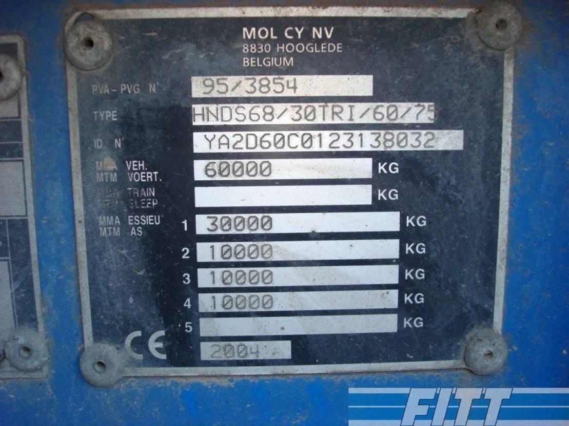 Tieflader Auflieger Mol 3ass EURO dieplader, afneembare nek, hydr kleppen 2004