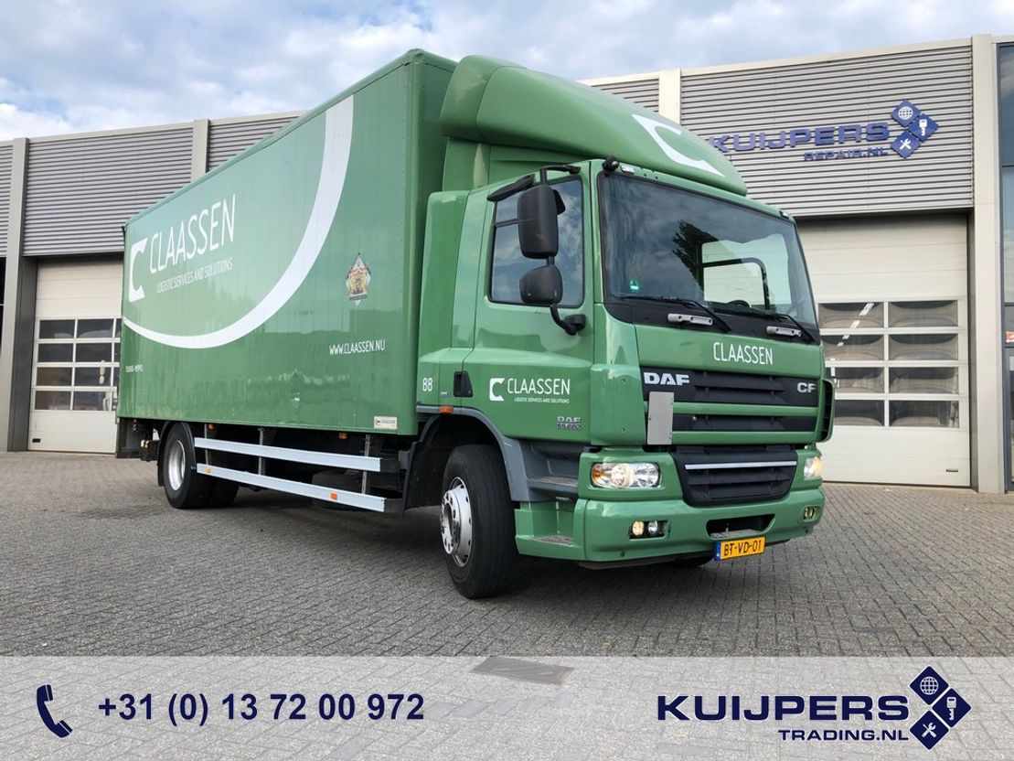 closed box truck > 7.5 t DAF CF 65 220 / Automatic / Alu Box / Loadlift / APK TUV / 3 in stock! 2008