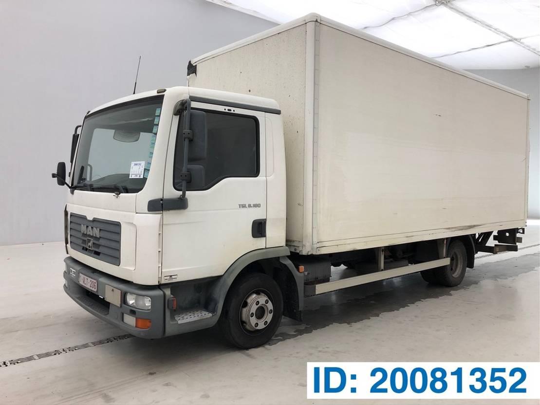 closed box truck > 7.5 t MAN TGL 8.180 2006