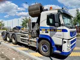 container truck Volvo 8x4 FM 500 Kraan/haak EEV 2012