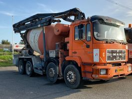 concrete mixer truck MAN 32.302 FULL STEEL SUSPENSION +MANAUL GEARBOX+ 9M3 +PUMP !!!!!!!!!!!!!!!!!!!!!!!!! 1991