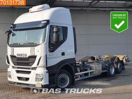 swap body truck Iveco Stralis HI-Way AS260S48 6X2 Intarder Liftachse ACC Standklima Euro 6 2016