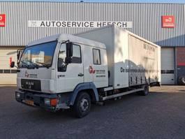 closed box truck MAN 12LL DUBBELE CABINE MANUEL 2000