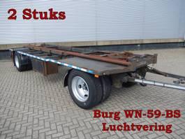 drop side full trailer Burg & Groenewegen 2 As Aanhangwagen T.b.v. Wissellaadbakken, 2 Stuks