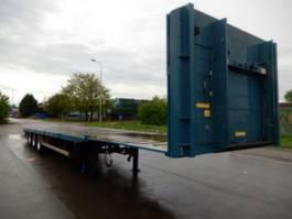 flatbed semi trailer Groenewegen DROV 12-27 3 As Oplegger Open, OG-28-NL 2001