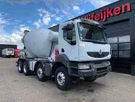 concrete mixer truck Renault KERAX 430 DXI - 8X4 BARYVAL CONCRETE MIXER EURO 5 - EEV 2013