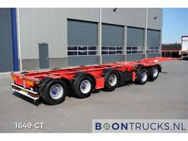 container chassis semi trailer Broshuis 2CONNECT-5AKCC   4 x LIFT AXLE * 3 x STEERING AXLE 2007