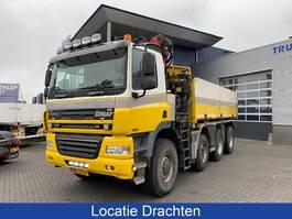 tipper truck > 7.5 t Ginaf X 4343 LS Hydraulische kipper + Palfinger kraan 2009