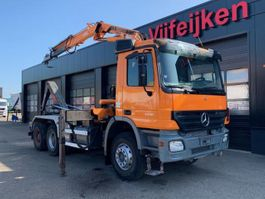 container truck Mercedes Benz ACTROS 3336 6X4 - HOOK CONTAINER SYSTEM WITH CRANE TEREX ATLAS 165.2 2005