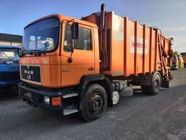 camião de lixo MAN 19-242 F 4X2 SCHÖRLING WasteCollector / Müllwagen / Benne Ordures 1990