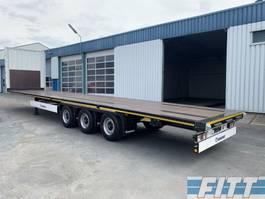 flatbed semi trailer Krone SD 3ass open laadbak 2019