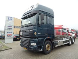 container truck DAF XF105 510 6x2 Manual / nch kabel Containersysteem 2011