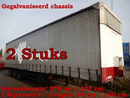 sliding curtain semi trailer Schmitz Cargobull SCS 24/L-13.62 M B VARIOS - 2 Stuks, OL-61-FX & OL-97-FL 2008