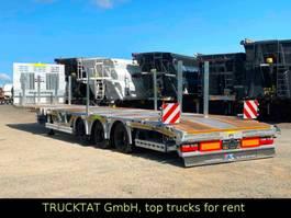 lowloader semi trailer Kaessbohrer Mega Teleskopierbar, Radmulden, Rampen, MIETEN? 2020